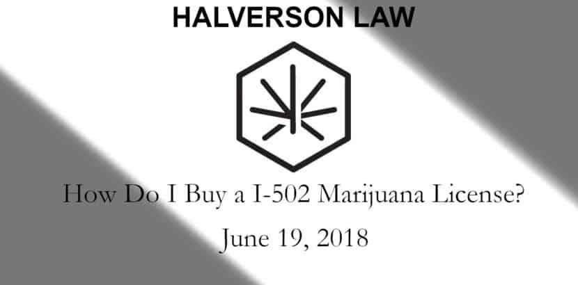 how do i buy an i502 marijuana license